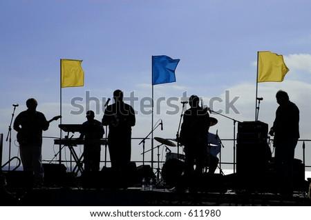 Band playing - stock photo