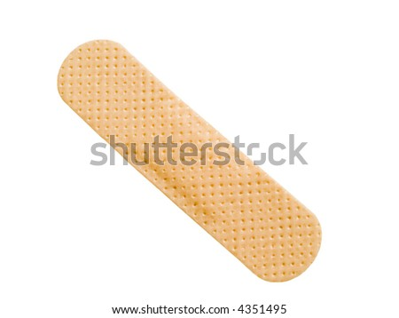 Bandage isolated on a white background - stock photo