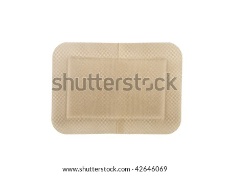 Bandage isolated on white - stock photo