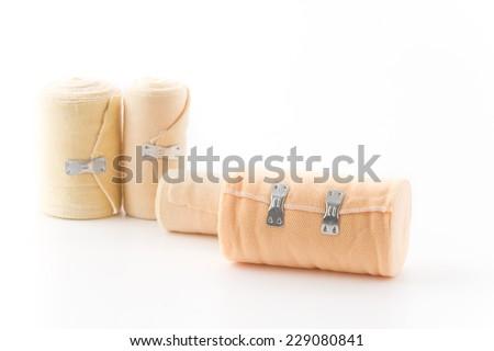 bandage isolated on white background - stock photo