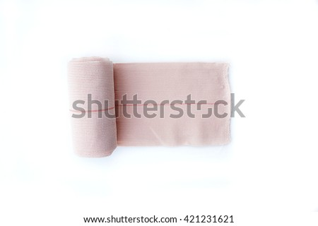 bandage, The bandage is an important one in first aid. Hemostatic bandage helps to prevent infection. - stock photo