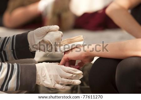 Bandaging - stock photo
