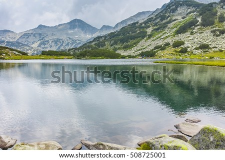 Banderishki chukar peak and  Muratovo lake, Pirin Mountain, Bulgaria