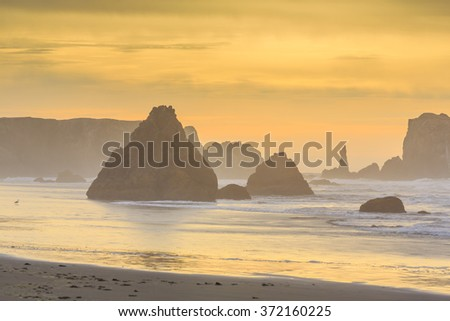 Bandon Beach,Oregon, USA - stock photo