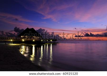 Bandos Sunset - stock photo