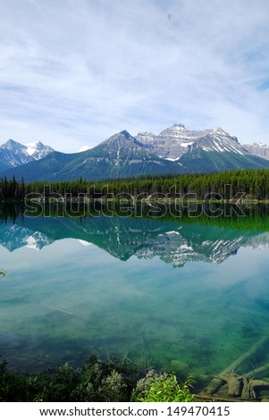 Banff National Park in Canada - stock photo