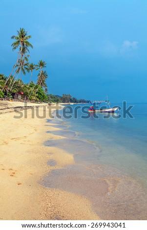 Bang Po Beach in Koh Samui, Thailand - stock photo