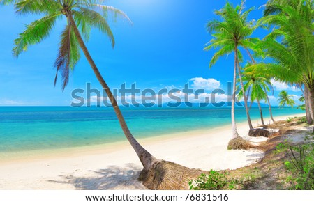 Bang Po beach, Koh Samui, Thailand - stock photo