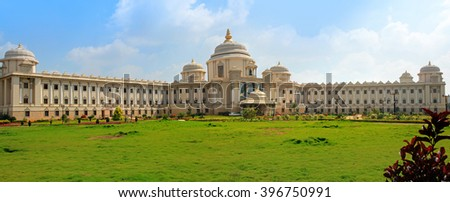BANGALORE, INDIA - Dec 14: Sathya Sai super specialty hospital in India on Dec 14, 2015.Sathya Sai Baba has established hospitals that offer world-class healthcare to all totally free of charge. - stock photo
