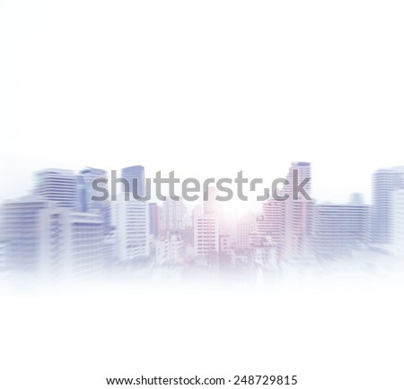 Bangkok  abstract view. Business concept. - stock photo