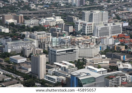 Bangkok - aerial view of the city from the tallest building in Thailand, Baiyoke Tower 2.