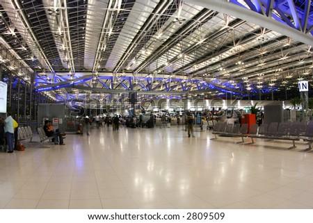Bangkok airport - stock photo