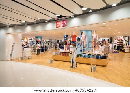 BANGKOK- April 21, 2016:Uniqlo store,Bangkok, Thailand - stock photo