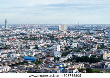 BANGKOK, August 22 : Bangkok view from abandon tower on August 22, 2015. Bangkok is the capital and the most populous city of Thailand. It is known in Thai as Krung Thep Maha Nakhon.