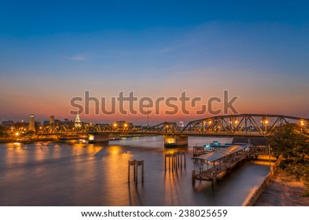 Bangkok Bridge - stock photo
