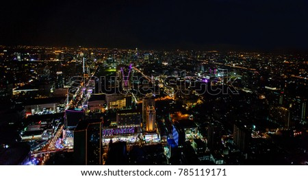 Bangkok city at twilight,Thailand