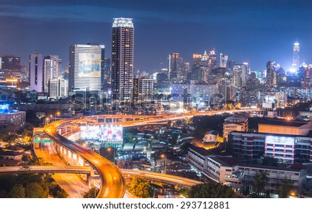 Bangkok city Cityscape twilight  Thailand
