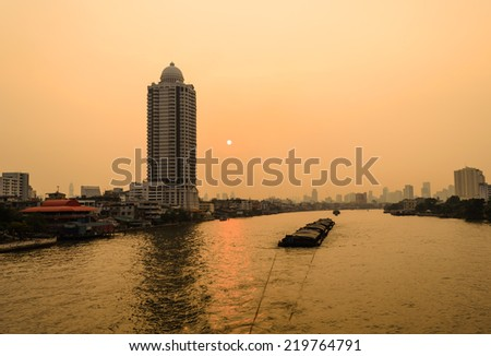 BANGKOK CITY IN THE MORNING,BANGKOK,THAILAND - stock photo