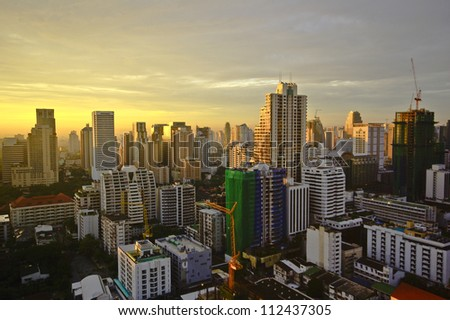 Bangkok city on morning - stock photo