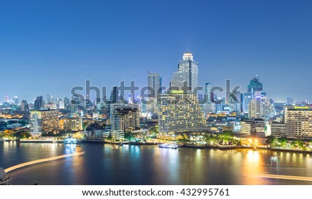 Bangkok city skyline hotel and condominium