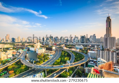 Bangkok cityscape bangkok city of Thailand - stock photo