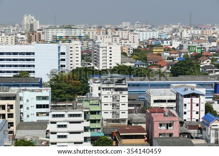Bangkok cityscape bangkok city of Thailand - stock photo