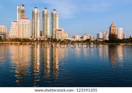 Bangkok cityscape Thailand - stock photo