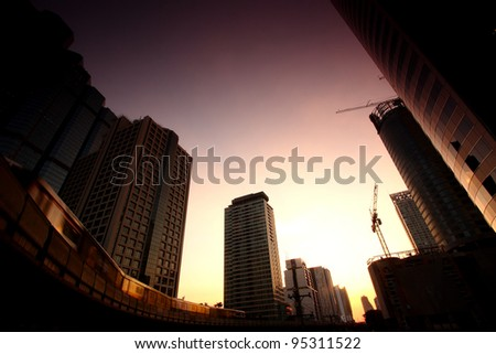 Bangkok Cityscape, Thailand - stock photo