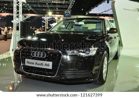 BANGKOK - DEC 3: Audi A6 on display at the Thailand International Motor Expo at Impact Muang Thong Thani on Dec 3, 2012 in Bangkok, Thailand. - stock photo