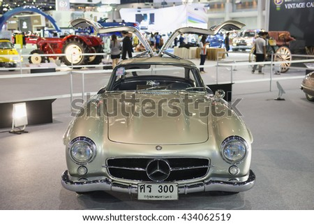 BANGKOK - DECEMBER 8 : Benz displayed at Thailand International Motor Expo2015, exhibition of vehicles for sale on December 8, 2015 in Bangkok, Thailand. - stock photo
