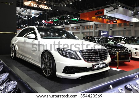 BANGKOK - December 11: Mercedes Benz with carlsson modify set car on display at The Motor Expo 2015 on December 11, 2015 in Bangkok, Thailand.