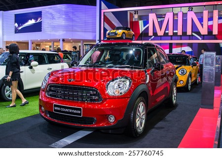 BANGKOK - December 6, 2014 : Mini car on display at The 31st Bangkok International Motor Expo on November 28, 2014 in Bangkok, Thailand.