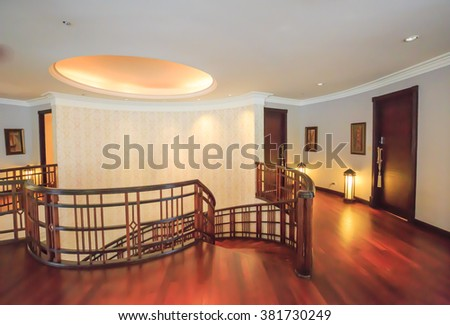 BANGKOK - FEB,25 : A classic room luxury interior home that made of wood .THAILAND FEB,25 2016 - stock photo