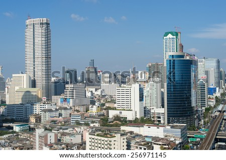 BANGKOK, February 21 : Bangkok view from abandon tower on February 21, 2015. Bangkok is the capital and the most populous city of Thailand. It is known in Thai as Krung Thep Maha Nakhon.