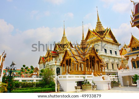Bangkok Grand Palace guard - stock photo