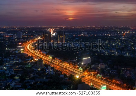 Bangkok in sunset