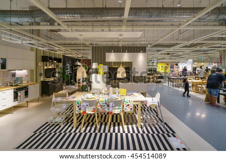BANGKOK - JUN 26 : Sample of the room interior at Ikea , Mega Bangna on Jun 26, 2016. Founded in Sweden in 1943, Ikea is the world's largest furniture retailer. - stock photo