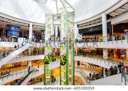 BANGKOK - MAR 11: Central World Shopping Mall on March 11, 2017 in Bangkok,Thailand. Central World is one of the most popular shopping malls in Bangkok.
