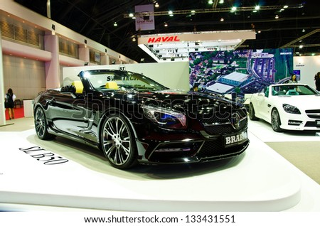 BANGKOK - MARCH 26 : The BRABUS SL B50 V8 Twin Turbo car on display at The 34th Bangkok International Motor Show 2013 on March 26, 2013 in Bangkok, Thailand. - stock photo