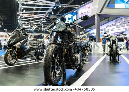 BANGKOK - MARCH 22 : Yamaha bolt on display at The 37th Bangkok International Motor Show : No � Boundaries Mobility on March 22, 2016 in Bangkok, Thailand.