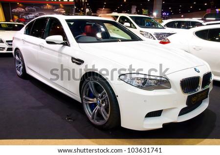 BANGKOK - MAY 20: BMW M3 a at the Super Car   Import Car Show at Impact Muang Thong Thani on May 20, 2012 in Bangkok, Thailand - stock photo