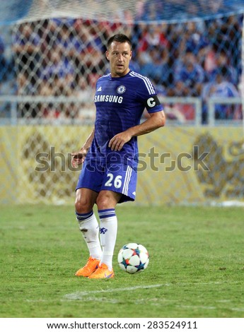 BANGKOK - MAY 30:John Terry of Chelsea in action during Singha Chelsea FC Celebration match at Rajamangala Stadium on MAY 30, 2015 in Bangkok, Thailand. - stock photo