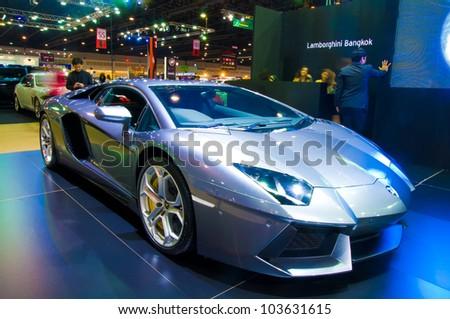 BANGKOK   MAY 20: Lamborghini Aventador Sports Car On Display At The Super  Car Import