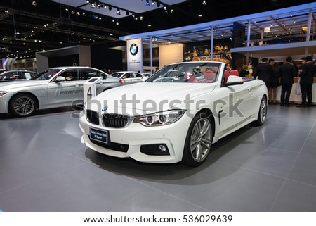 BANGKOK - November 30: BMW 420d Convertible Msport car on display at Motor Expo 2016 on November 30, 2016 in Bangkok, Thailand.