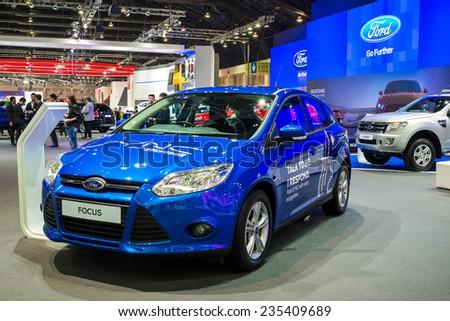 BANGKOK - NOVEMBER 28: Ford Focus car on display at The 31st Bangkok International Motor Expo on November 28, 2014 in Bangkok, Thailand. - stock photo