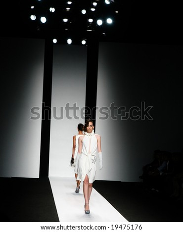 BANGKOK - OCTOBER 18: Models on the catwalk at Elle Fashion Week October 18, 2008 in Bangkok, Thailand. - stock photo