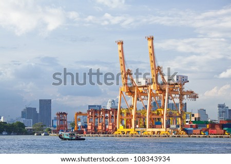 Bangkok Port Terminal for shipping and logistic