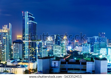Bangkok skyline at night