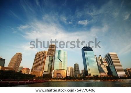 Bangkok Skyscraper - stock photo