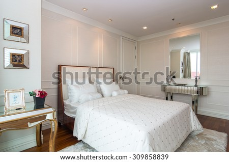 BANGKOK, THAILAND - APRIL 25 :  Luxury Interior bedroom at My resort on April 25, 2015 in Bangkok, Thailand - stock photo